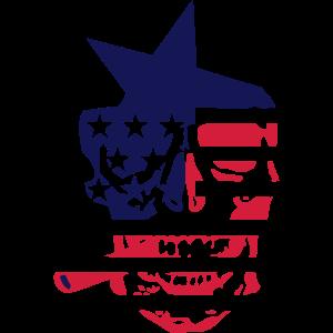 amerikanische flagge schaedel kopf tot 4