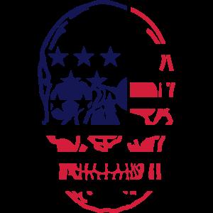 amerikanische flagge schaedel kopf tot8