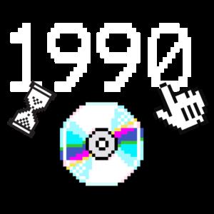 1990 Geburtstag Retro Pixel