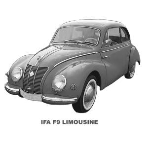 IFA F9 Limo DDR Zwickau AWE Eisenach EMW 309