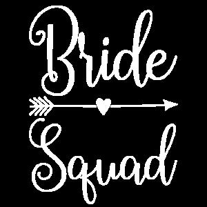 Bride Squad für Freundinnen der Braut