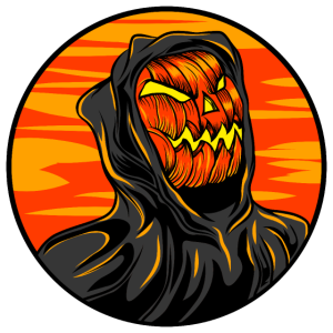 Halloween Grusel Kürbis Horror Retro Sensemann
