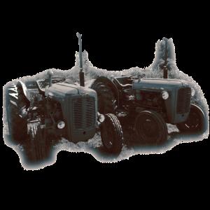traktor retro grauton