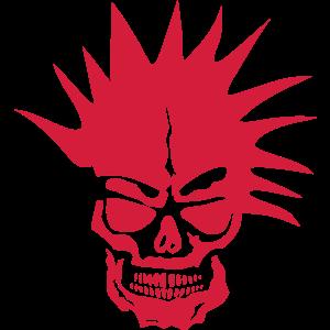 schaedel tot kopf punkfrisur
