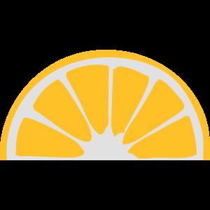 orange zitrone halb aufgeschnitten suess