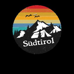 Retro Südtiroler Berge Motiv