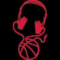 basketball ball ueber kopfhoerer