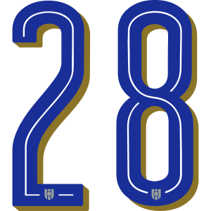 28 Italien Rückennummer, Pelibol ™