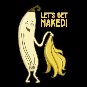 Striptease Banane - witziges Humor Shirt