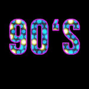 Liebe die 90er Jahre; Retro TShirt 1990er 90er