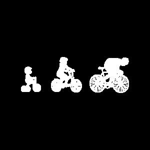 Evolution Rennrad Rennradfahrer Sport Fahrrad