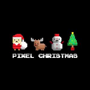 Pixel Christmas Weihnachtsmann Weihnachtsbaum