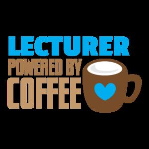Dozent mit Kaffee