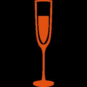 glas champagner floete kristall sek