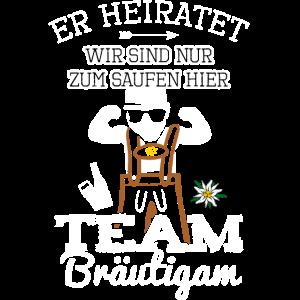 Team Bräutigam JGA Männer Junggesellenabschied Fun