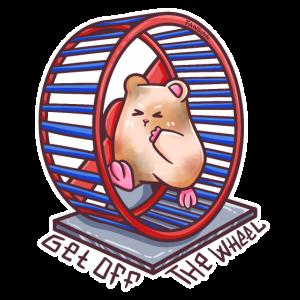 Hamsterrad metapher Laufrad Routine Tier Geschenk