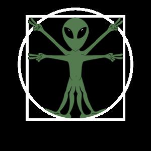 Vitruvianischer Alien