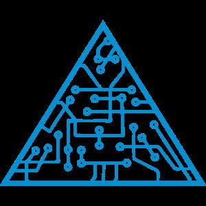 dreieck form mikrochip technologie cool design mus