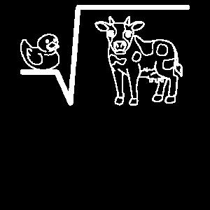 Ente Wurzel Kuh Mathe Wortspiel Mathematik Mathe