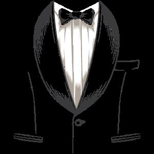 Falscher Anzug mit Fliege - JGA Junggeselle