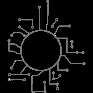 schaltkreis elektronisch kreis rund fläche umrandu