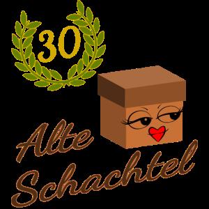 30. Geburtstag ALTE SCHACHTEL Frau Geschenk zum 30