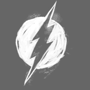 Justice League Flash Logo white