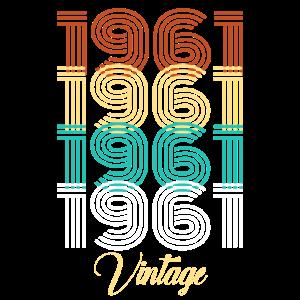 Retro Vintage 1961 Geburtsjahr Geschenkidee