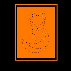 Minimalistischer Fuchs Abstrakter Fuchs