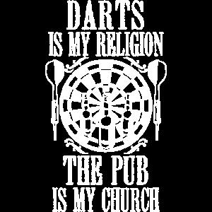 Darts is My Religion Funny Throwing Darts