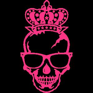 schaedel koenig krone gesicht kopf logo
