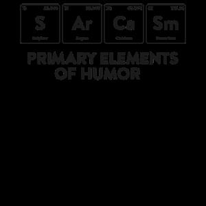 Primäre Elemente der Humor Science Shirt Sarkasmus S
