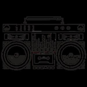 Ghetto Blaster Silhouette (Schwarz)