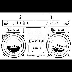 Ghetto Blaster (Weiß)