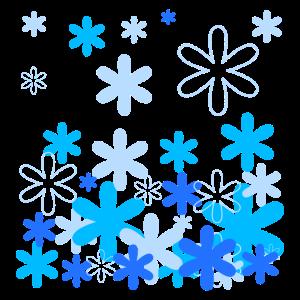 Schneefall - Blau