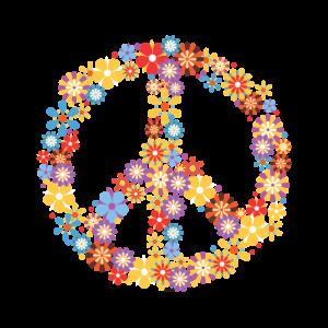 Hippie Peace Liebe Blumen Kinder Geschenk Hipster