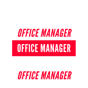 Office Manager Red and White Design