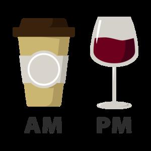 Kaffee- und Weinzeit