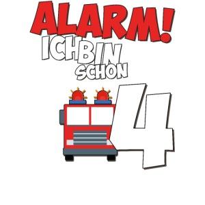 Feuerwehrauto 4. Geburtstag Jungen 4 Jahre