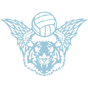 tiger fluegel volleyball sport verein logo