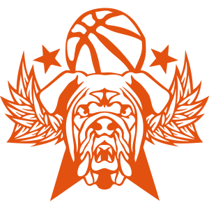basketball bulldog fluegel logo sportvere