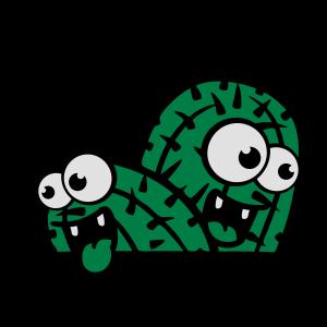 comic cartoon gesicht lustig boden kleiner kaktus