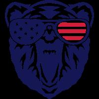 baer sonne farbblende amerikanische flag