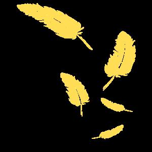 Federn - Symbol / gold