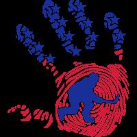 amerikanischen fussabdruck hand hockeyst