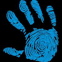 digitalen fussabdruck in 1010 hand