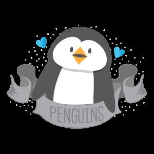Pinguin auf einem niedlichen Banner