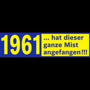 60. Geburtstag Jahrgang 1961 geboren