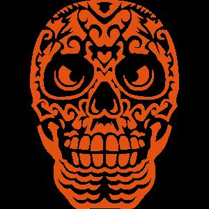 mexikanische schaedel tattoo 100