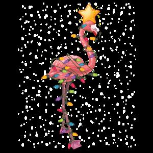 Flamingo Christmas Ornaments Tree Funny Sarcasm